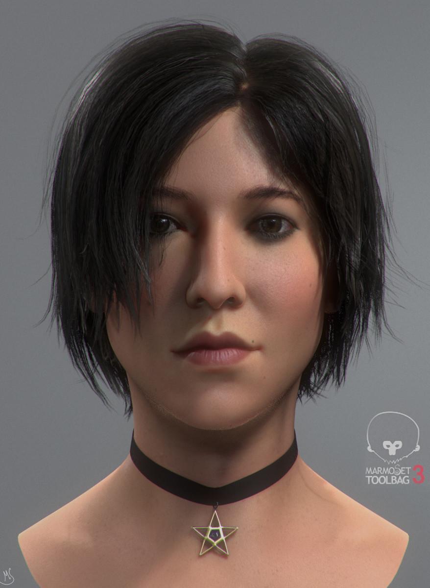 Realtime Asian girl hair Marmoset tutorial by Mahabir Singh Asian girl Asian girl
