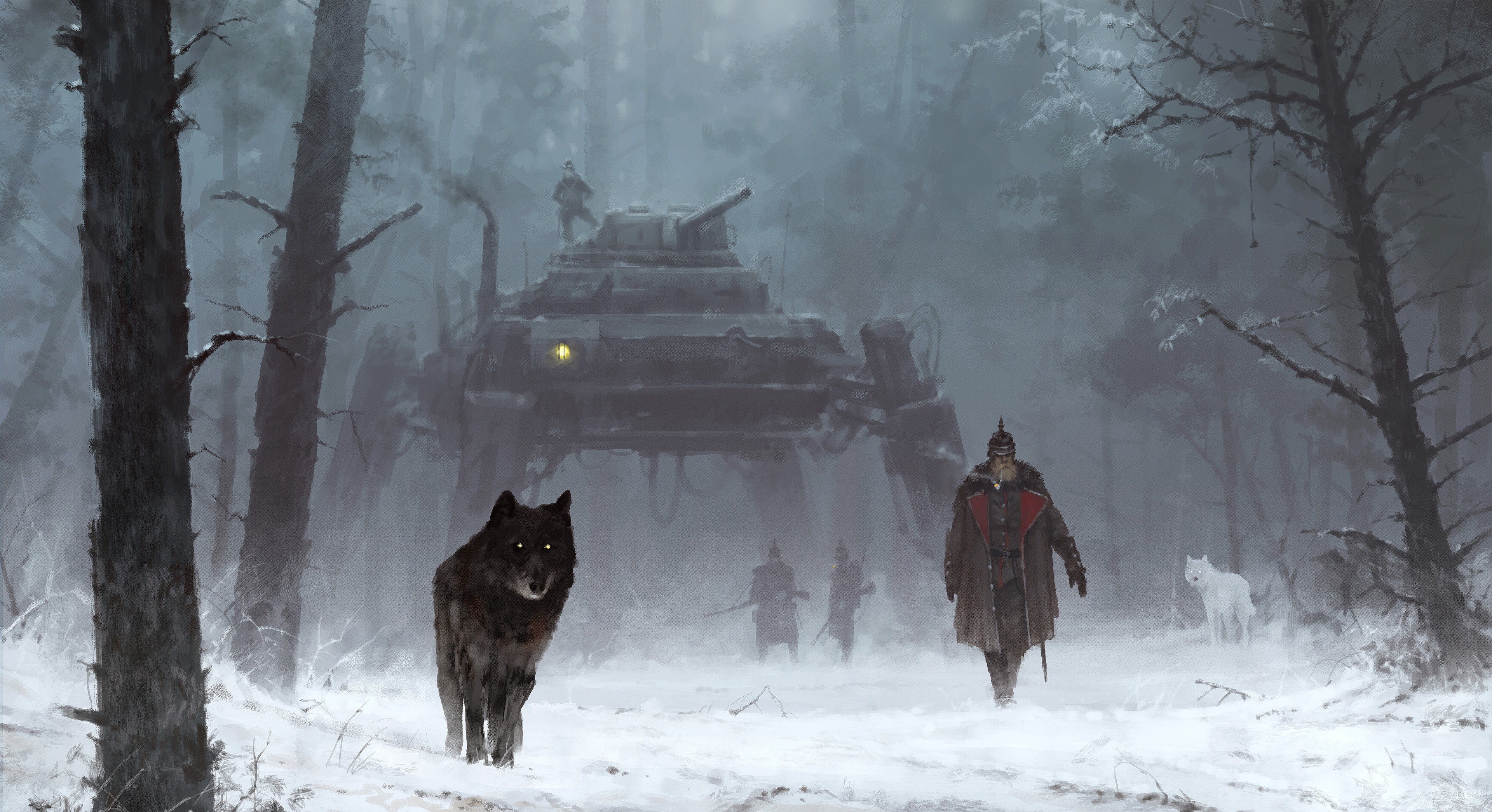 Gunter and his dire wolves: Nacht & Tag