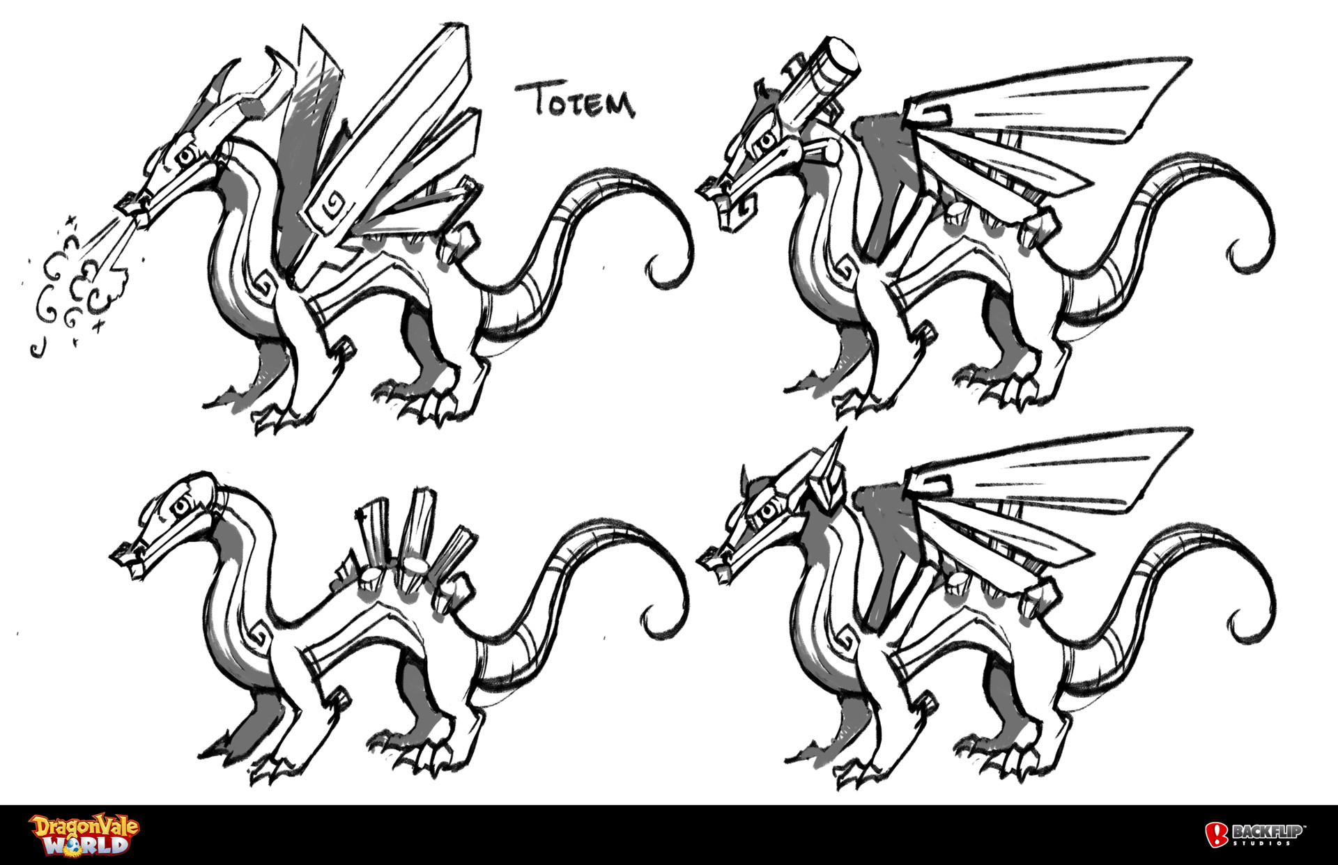 ArtStation - Totem Dragon Concepts , Tess Brownson