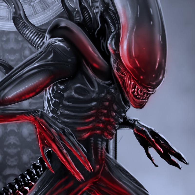 Alien Tribute Clock