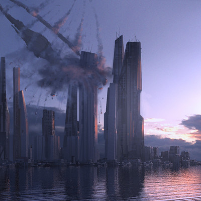 Duncan halleck scifi city2