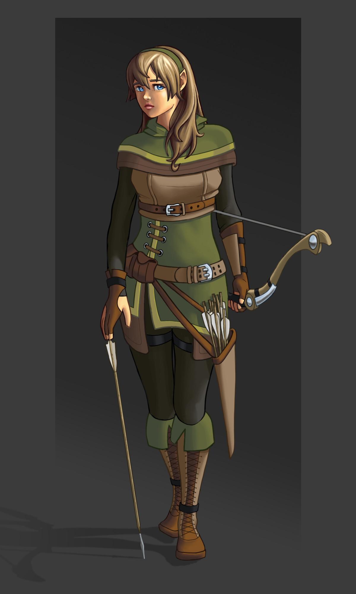 Artstation Half Elf Ranger Kevin Furr