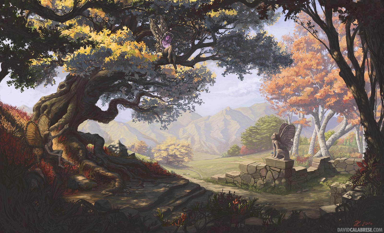 Fairies In Autumn