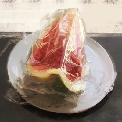Guenter zimmermann melone in foil contrast