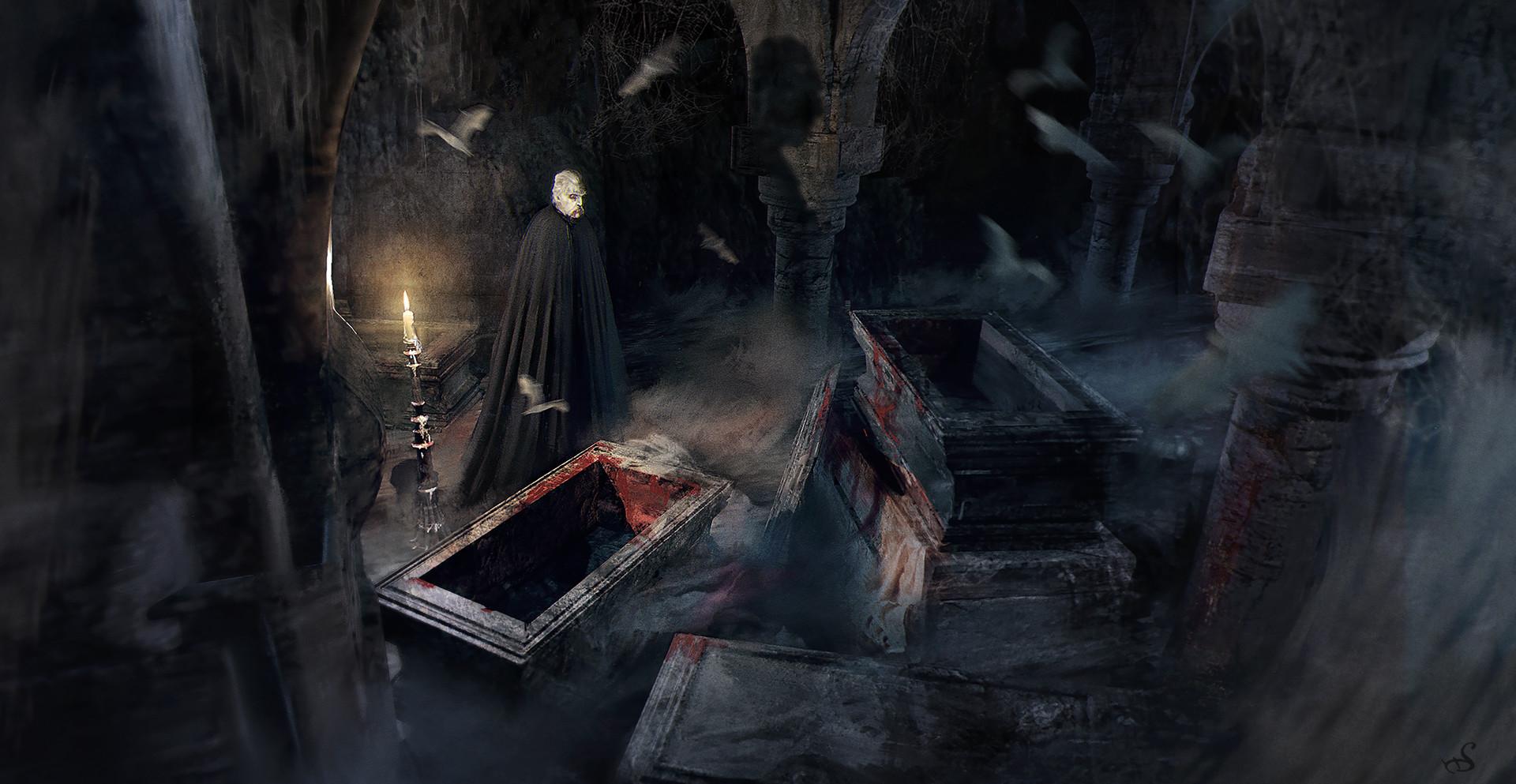 Sebastien ecosse dracula crypt vampire sebastien ecosse illustration tomb 300dpi bonordre