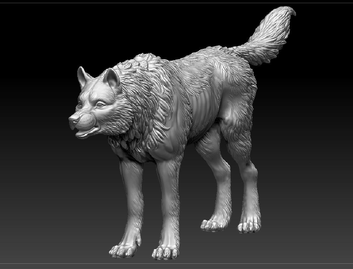 Meagen ruttan meagenruttan zbrush wolf 03