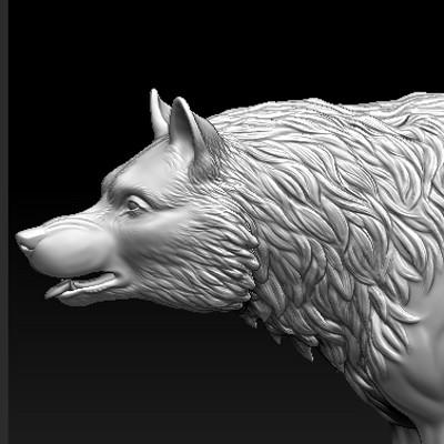 Meagen ruttan meagenruttan zbrush wolf 04