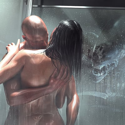 Alien Covenant - Shower scene