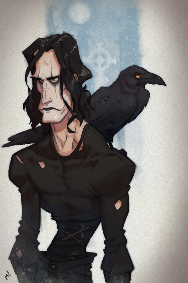 """""""People once believed that when someone dies, a crow carries their soul to the land of the dead..."""""""