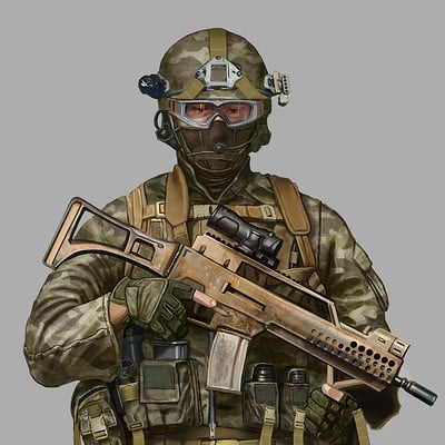 Modern Military Soldier