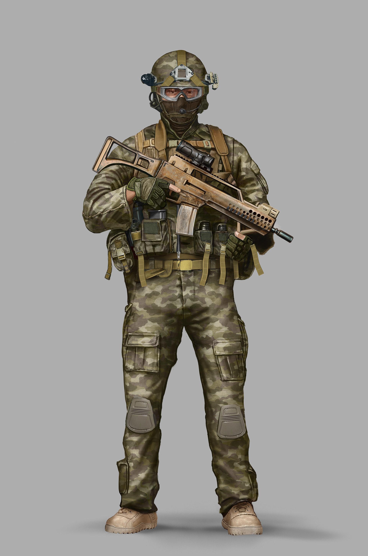 Gustavo torqueto modern soldier color 3