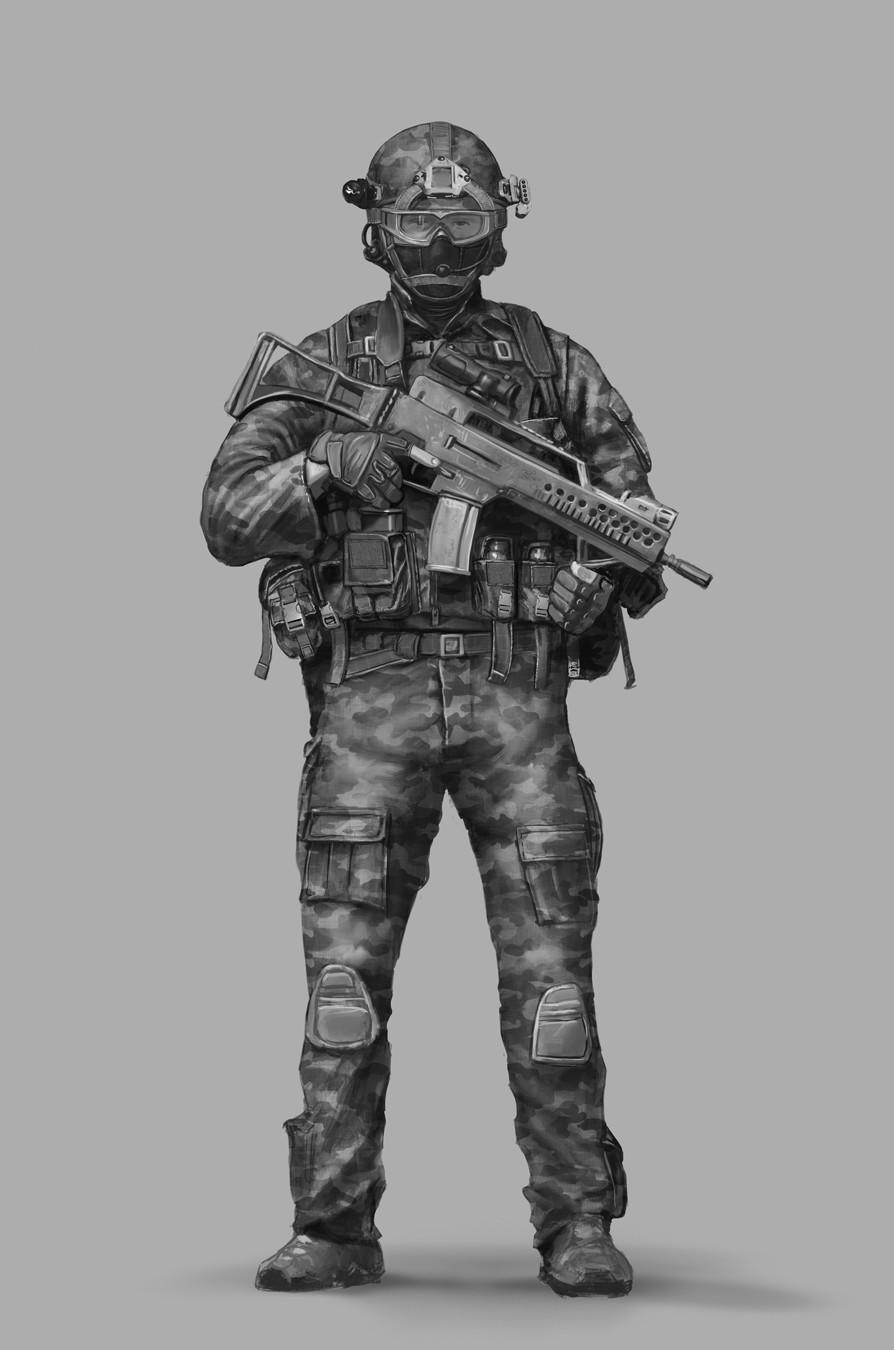 Gustavo torqueto modern soldier bw 4