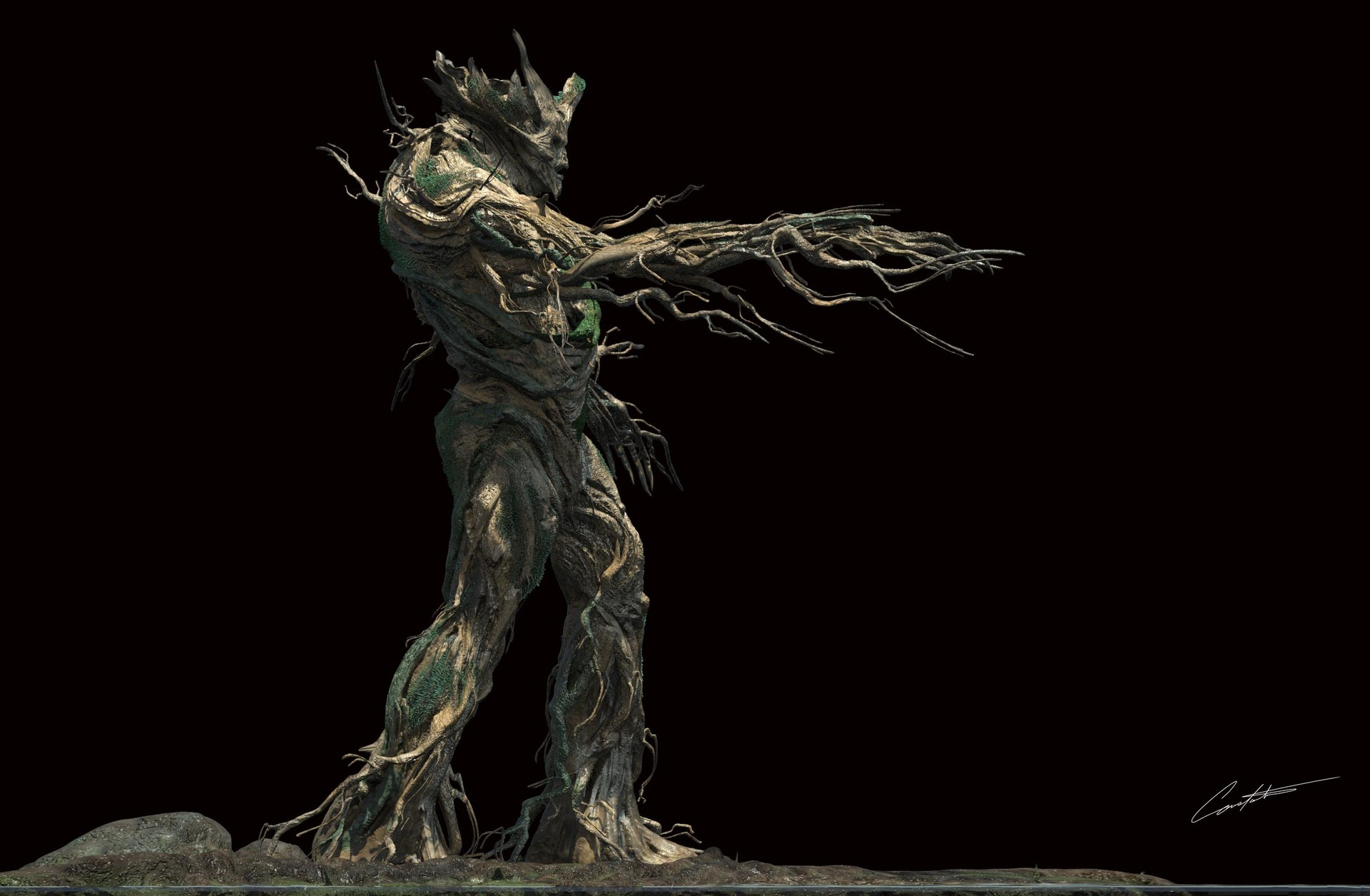 Constantine Sekeris Grimm Tree Creature Design