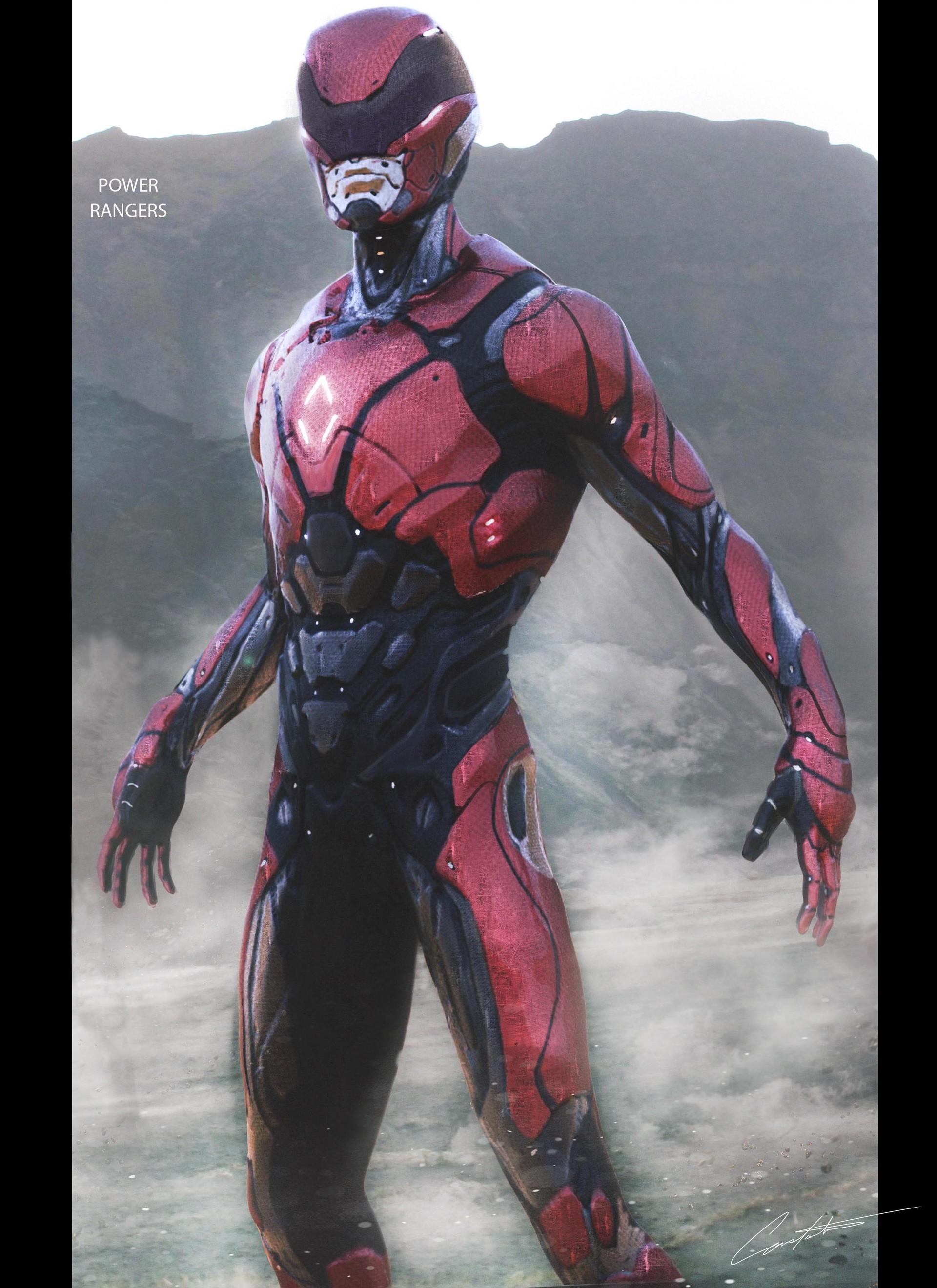 ArtStation - Power Rangers Red Ranger Design, Constantine ...