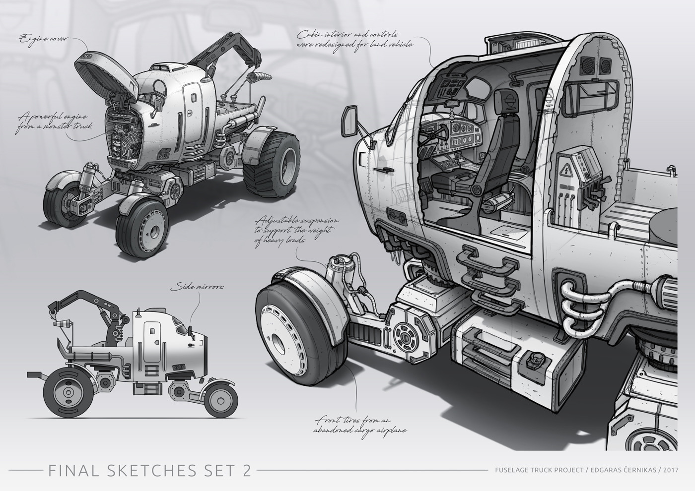 Edgaras cernikas fuselage truck final sketches set 2 1400x990