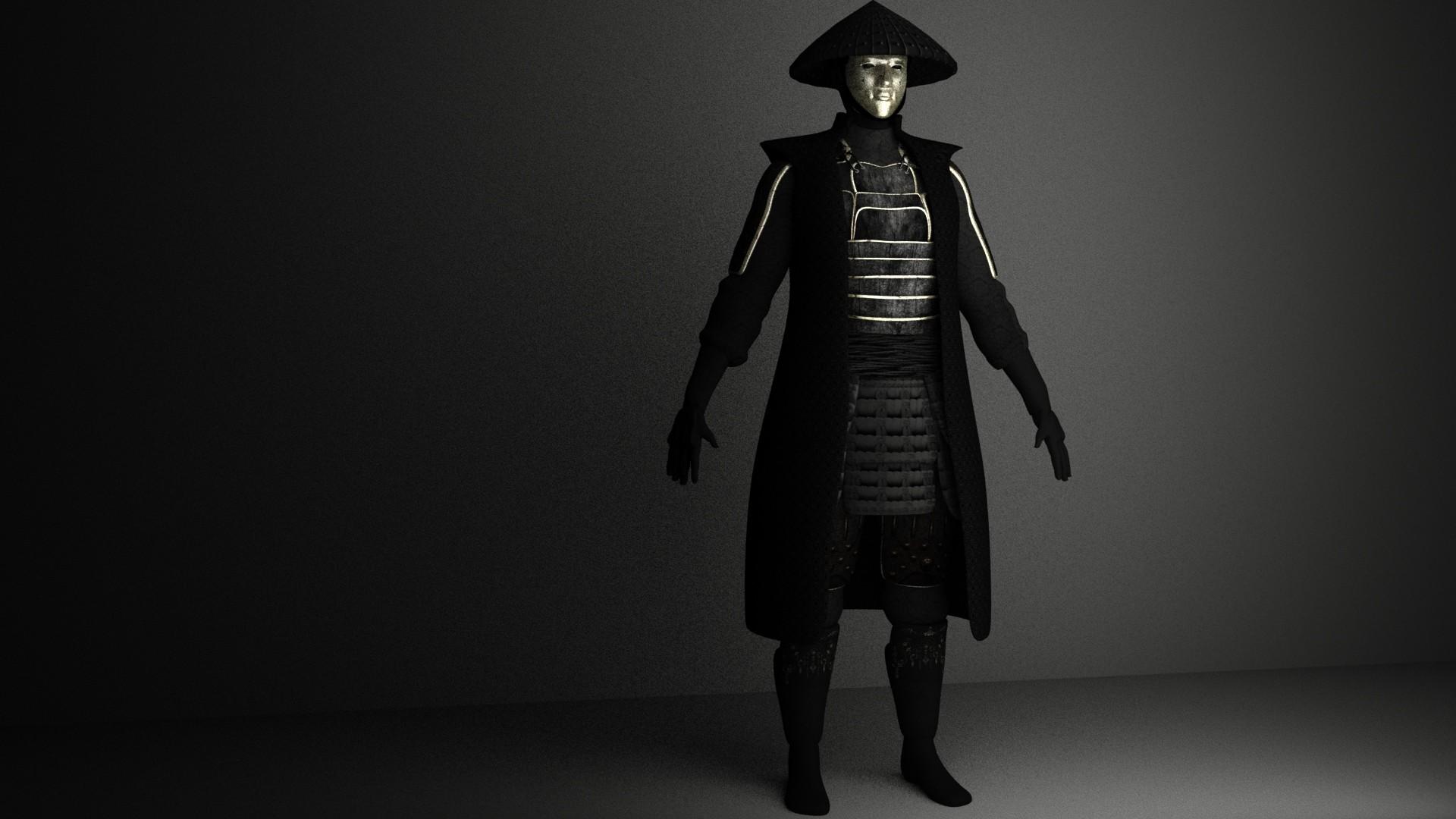 haley rowley dark samurai 3d model