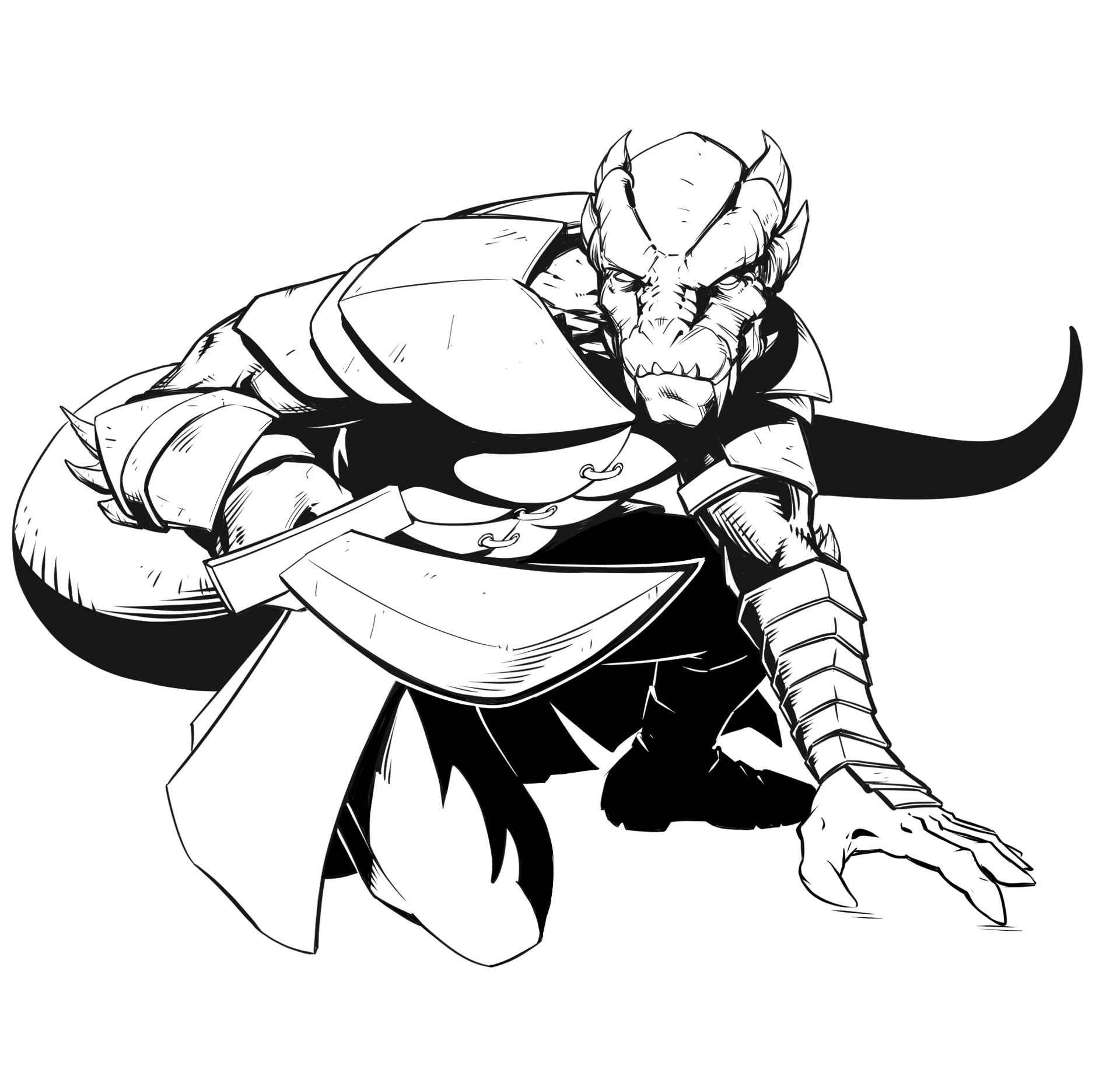 Darryl Jones - Kade - Dragonborn Ranger, D&D 5e Character