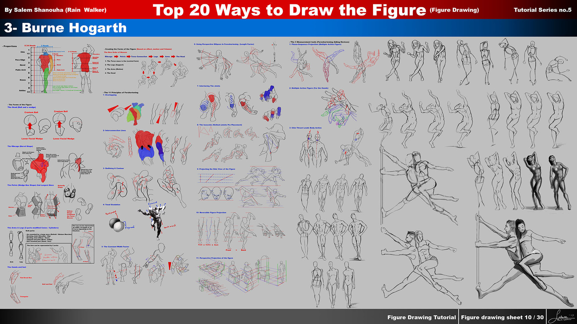 ArtStation - Top 20 ways to draw the figure Chapter 3 (Burne Hogarth ...