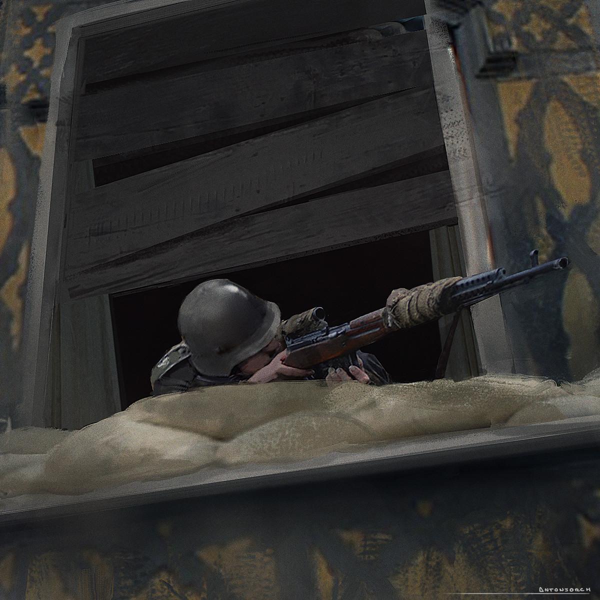 WW2 Keyframe Sketch - Sniper