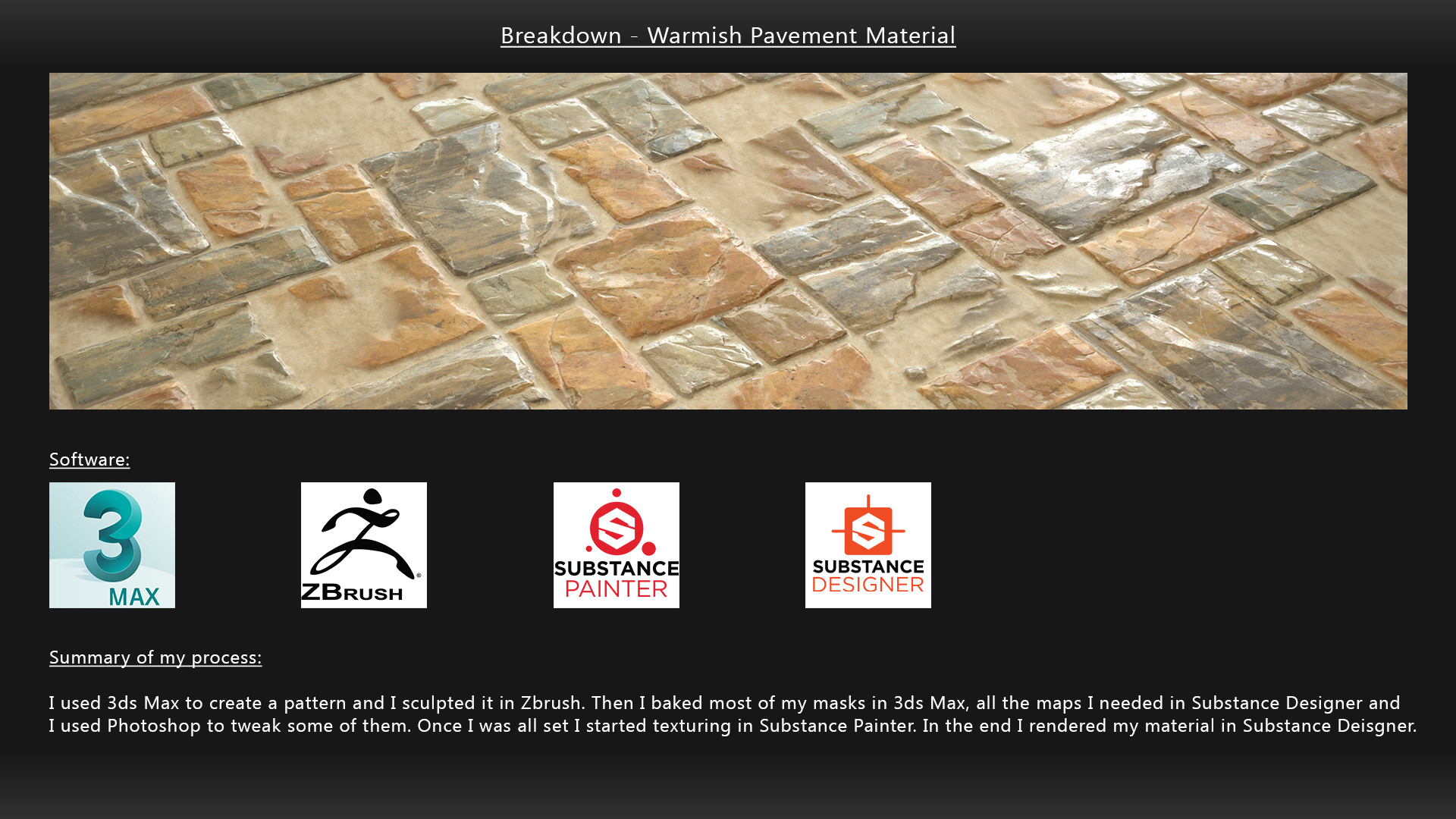 ArtStation - Tutorial Material Creation - Warmish Pavement