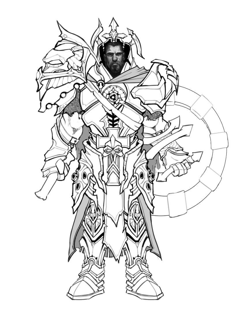 Peter rocque crusader concept sketch