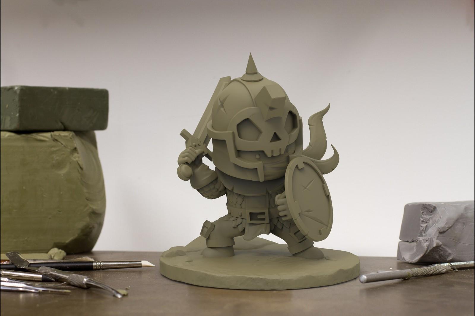 Skull Knight for 3D Print