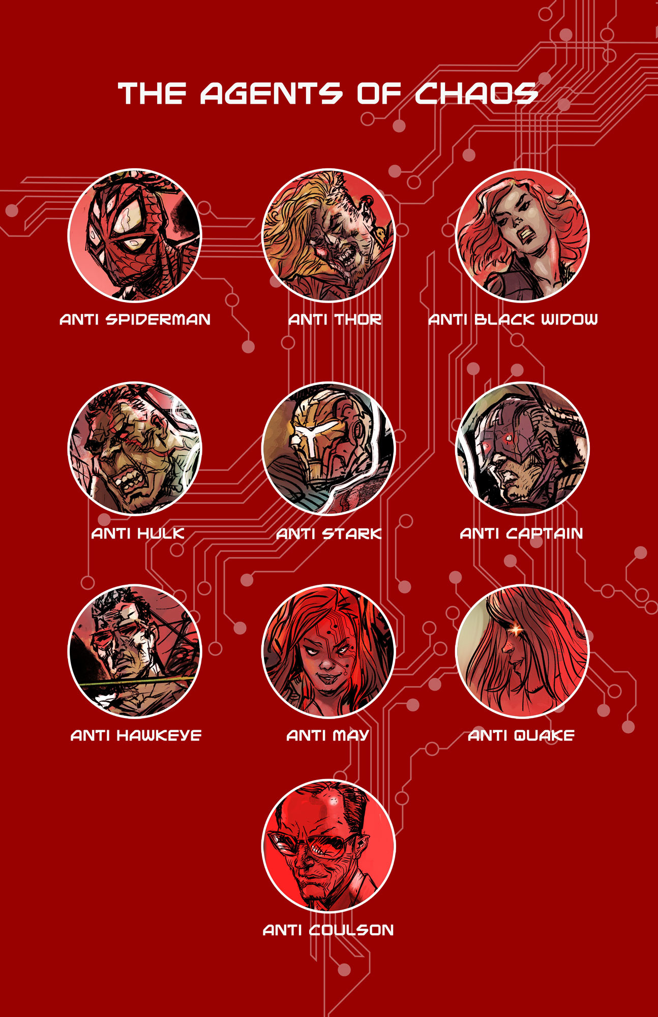 Page 9 - Agents of CHAOS line up