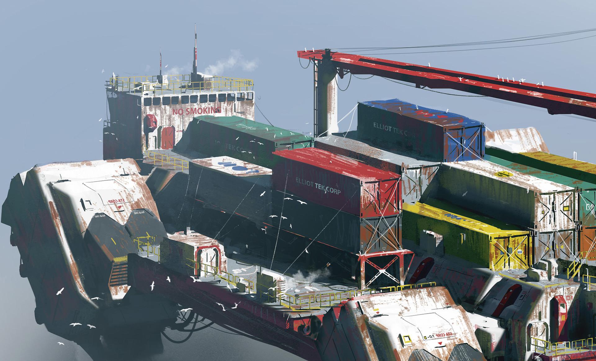 Paul chadeisson testspeed 0161 ship closeup 02