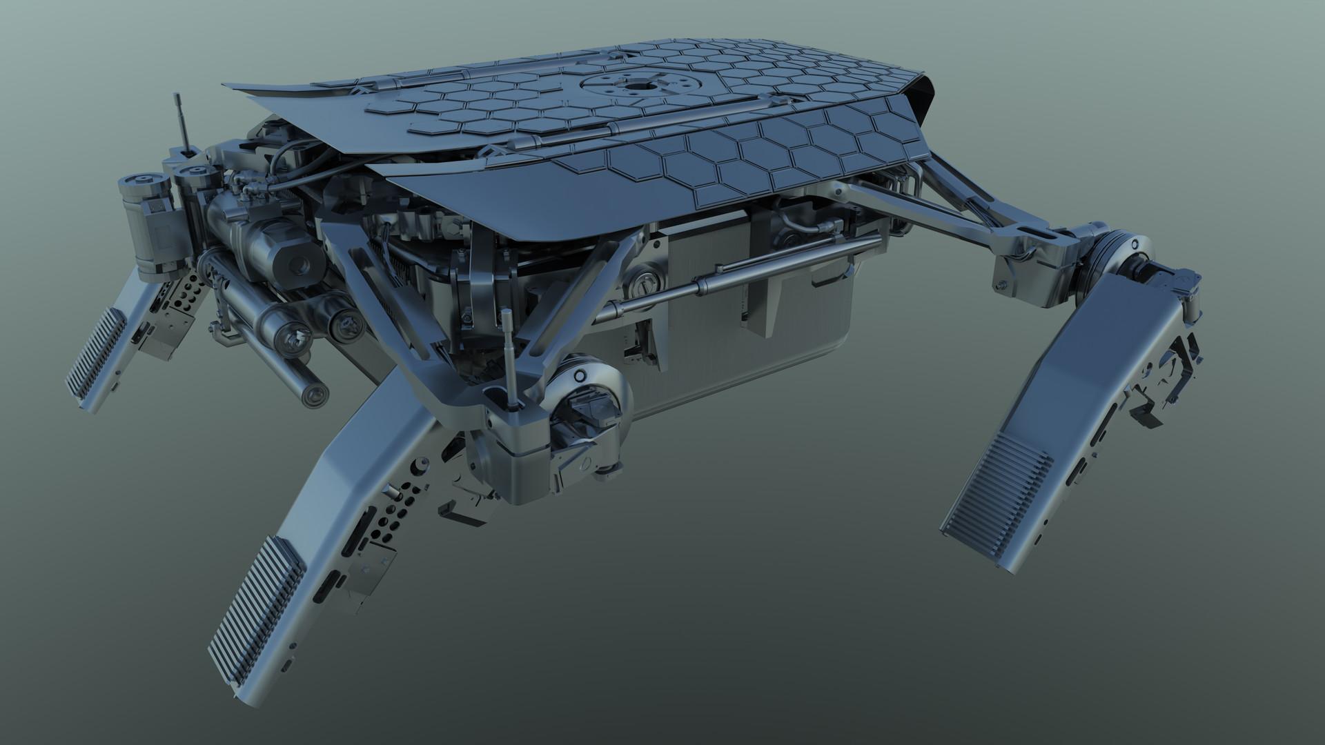 Martin krol drone model render 12