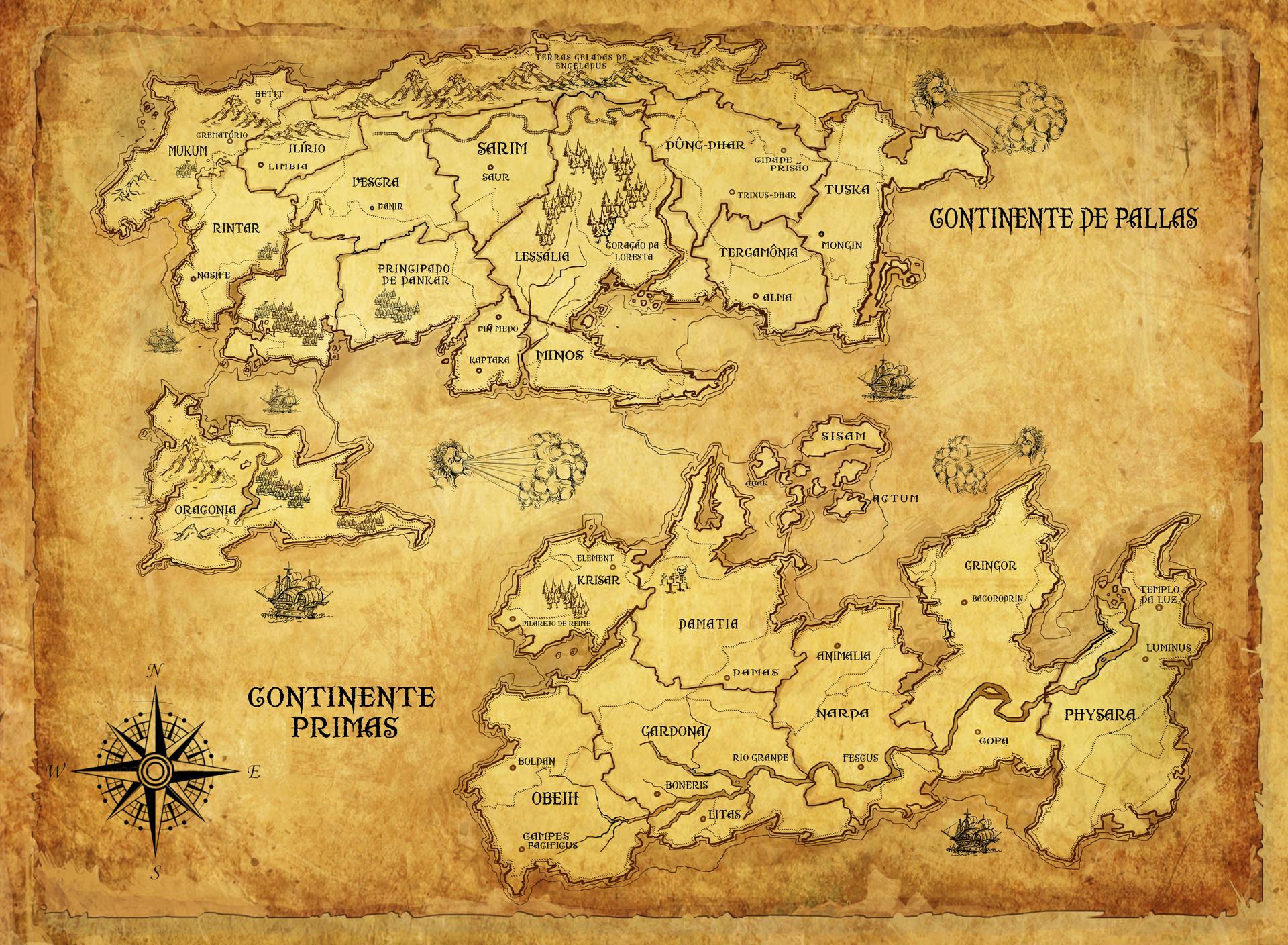 Camaleao camaleao continente mapa final 2