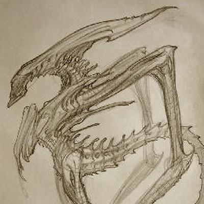Constantine sekeris as alien queen sketch01