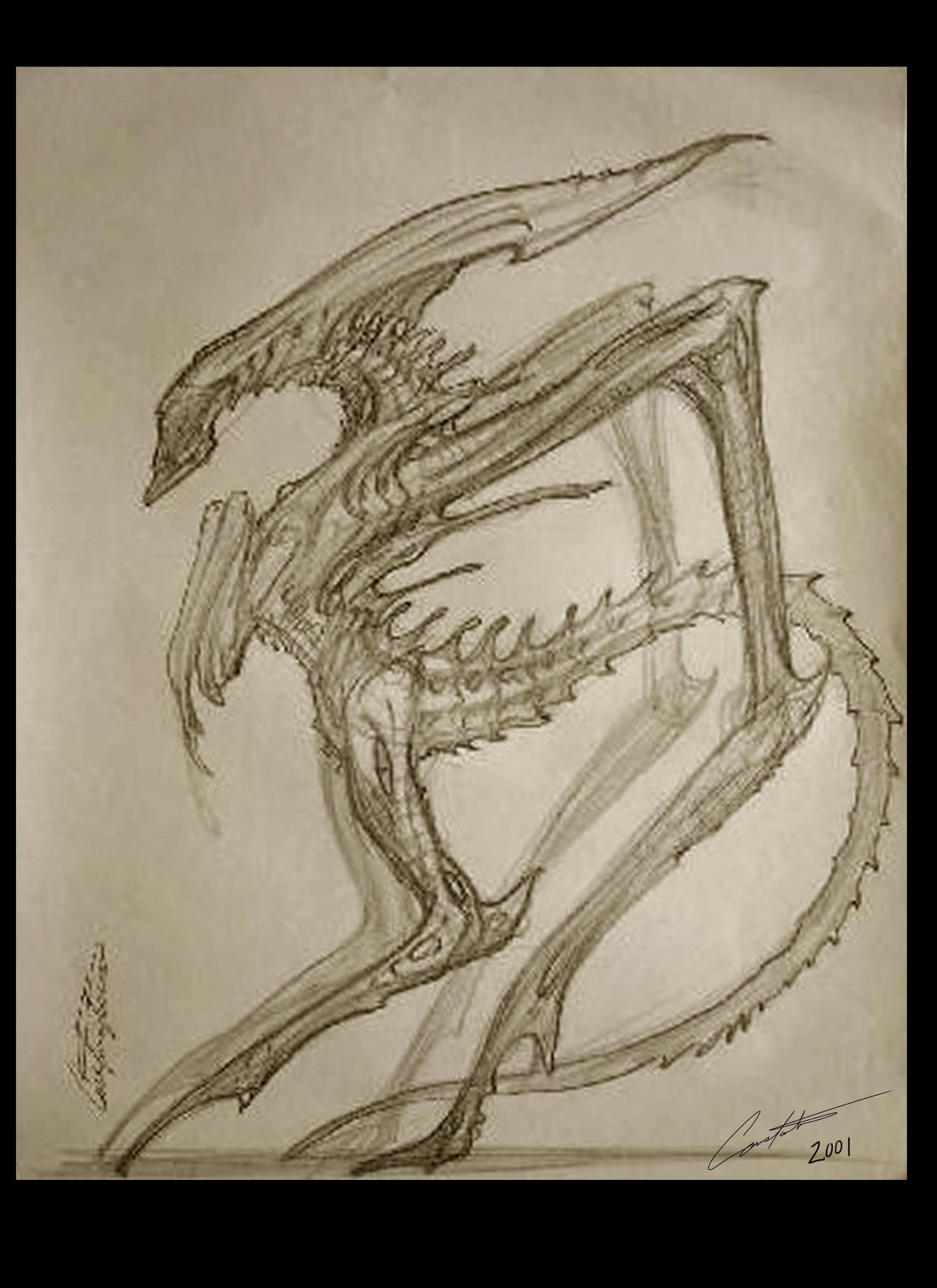 Alien Queen Design rough sketch