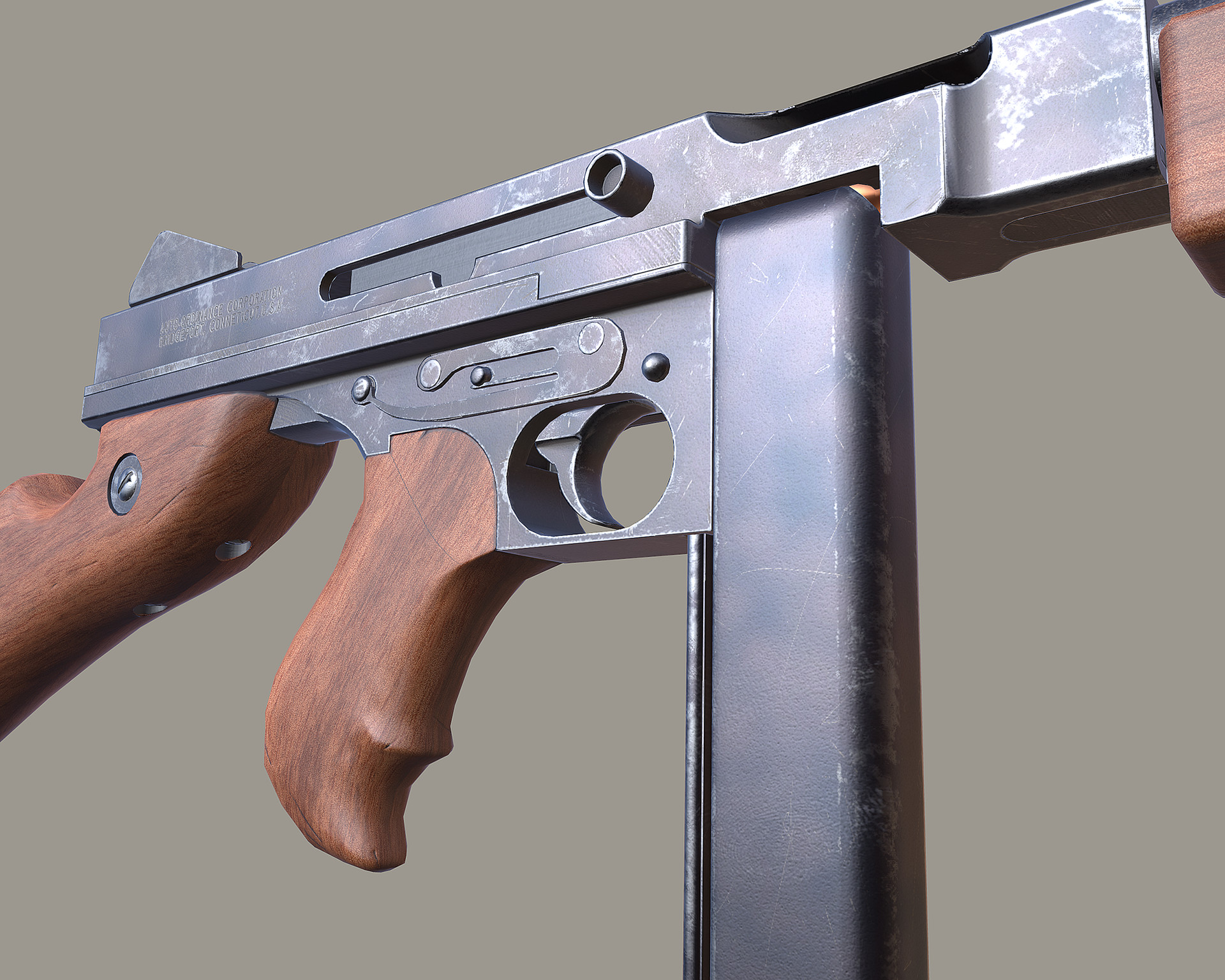 ArtStation - Thompson Machine Gun M1A1, Lance Bass