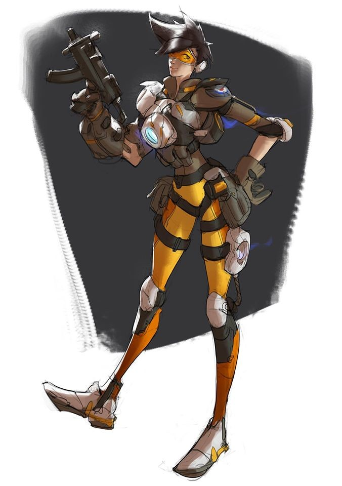 People! I can't start this character series without Tracer, c'mon is OVERWATCH!
