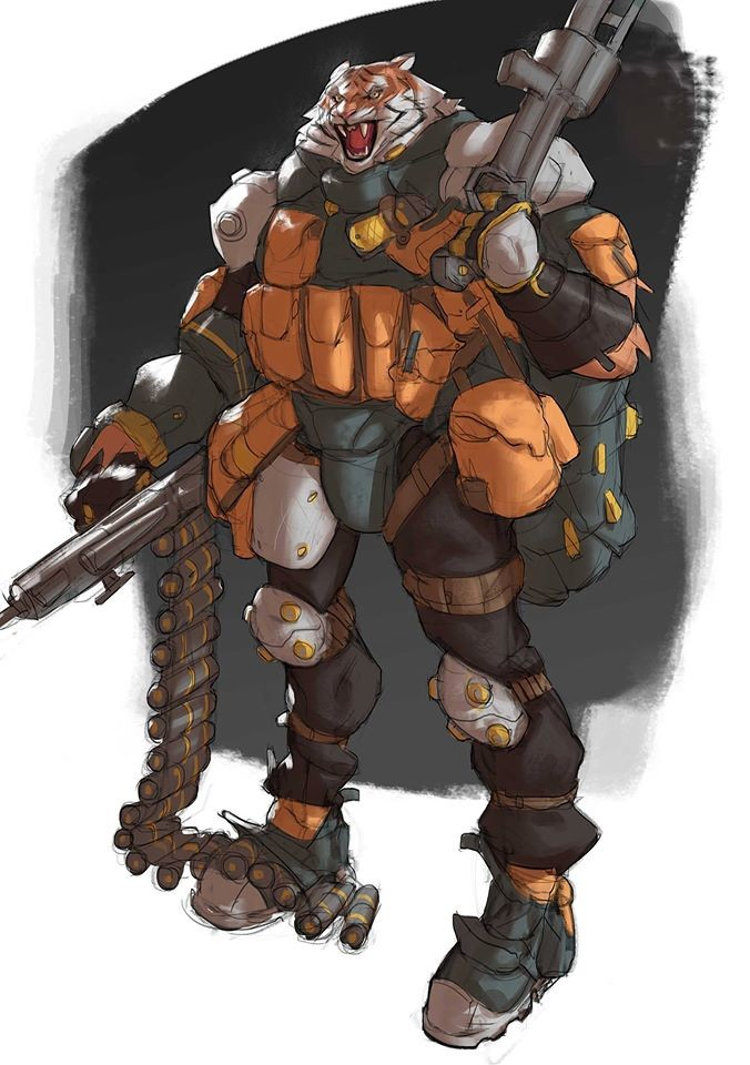 """""""Shotgun T"""" the first character of my Animal Killdom series, ready for battle?"""