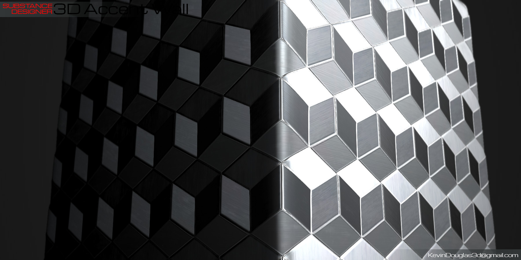 Kevin douglas accent wall 3dcubes beauty light 03