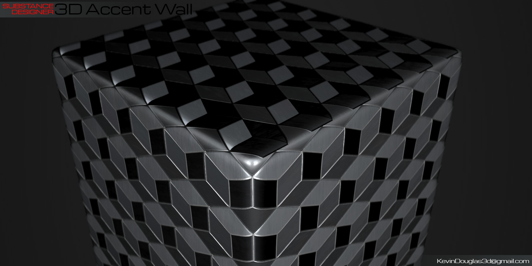 Kevin douglas accent wall 3dcubes beauty anglesilver