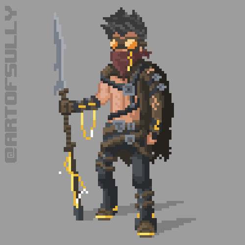 'Tribal Warrior' Animated Sprite (Commission)