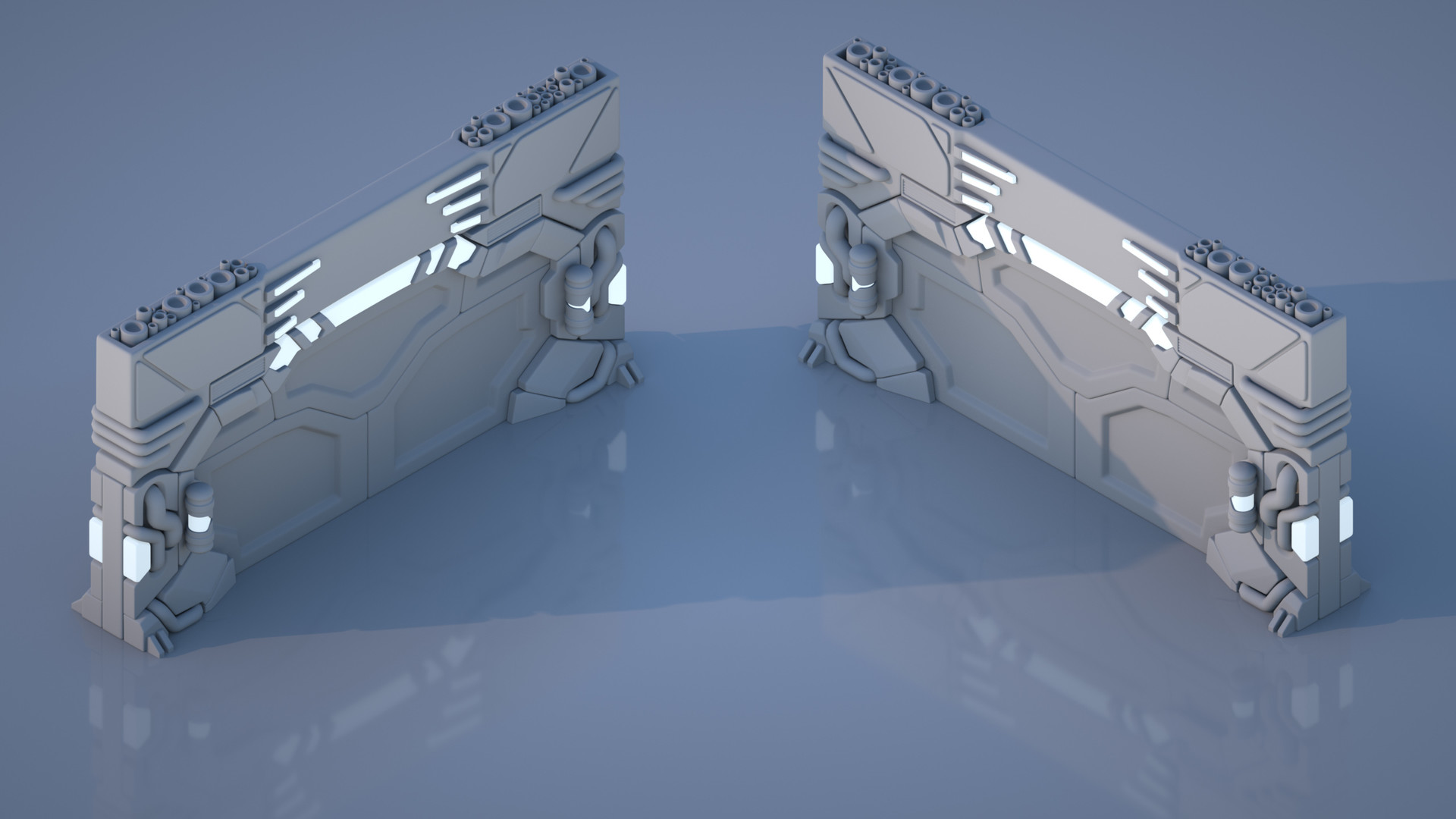 Scifi Door - viewing angles