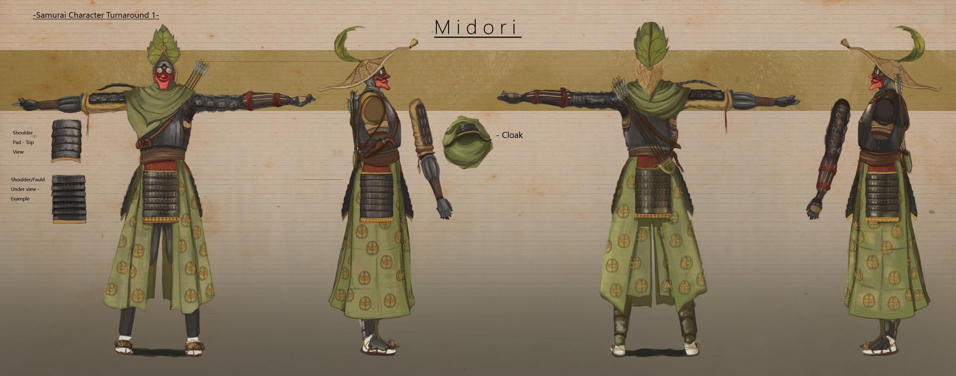 Concept Art Character Design Turnaround