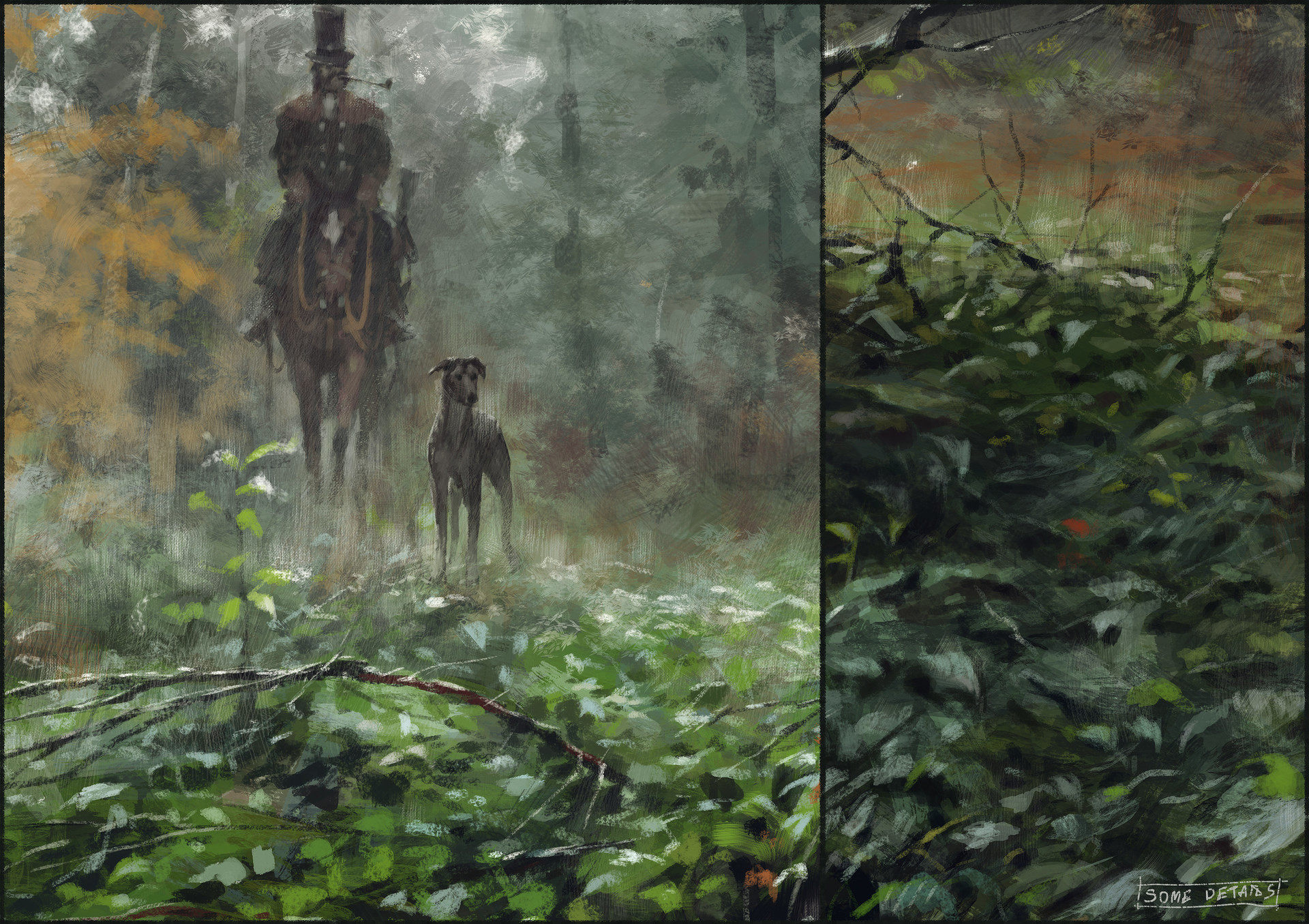 Jakub rozalski morning hunt process06