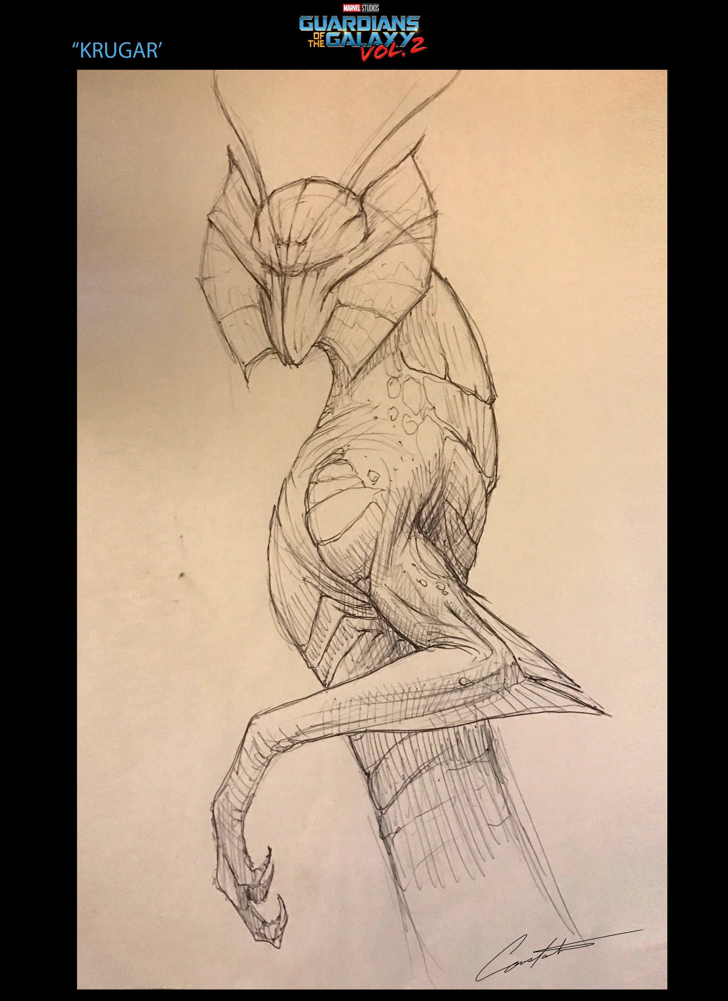 Guardians of the galaxy vol.2 Krugar rough sketch