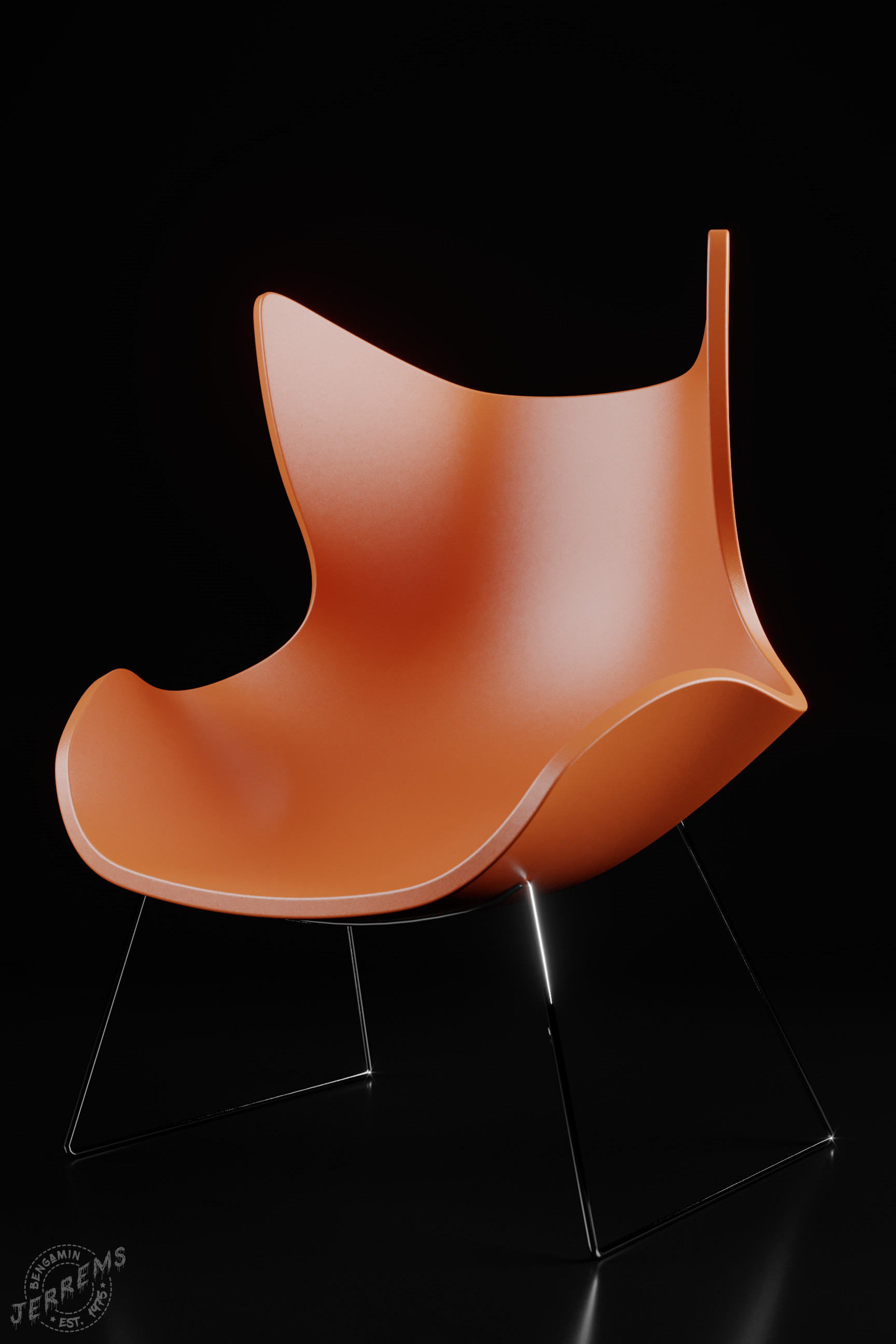 ArtStation Retro Highback Plastic Chair Bengamin Jerrems
