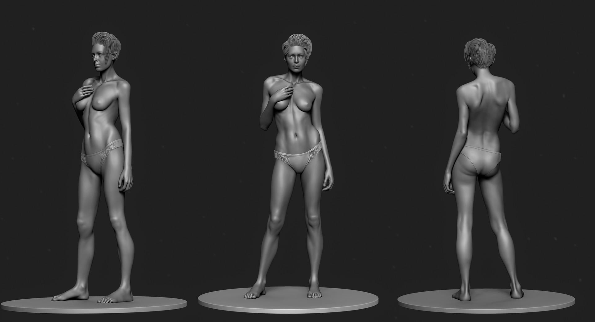 ArtStation - Female anatomy study, Serhii Khomenko