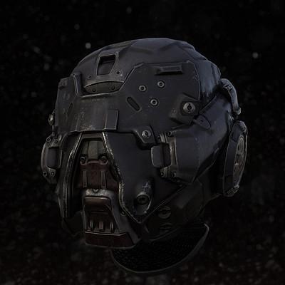 Chris arnold sci fi helmet concept