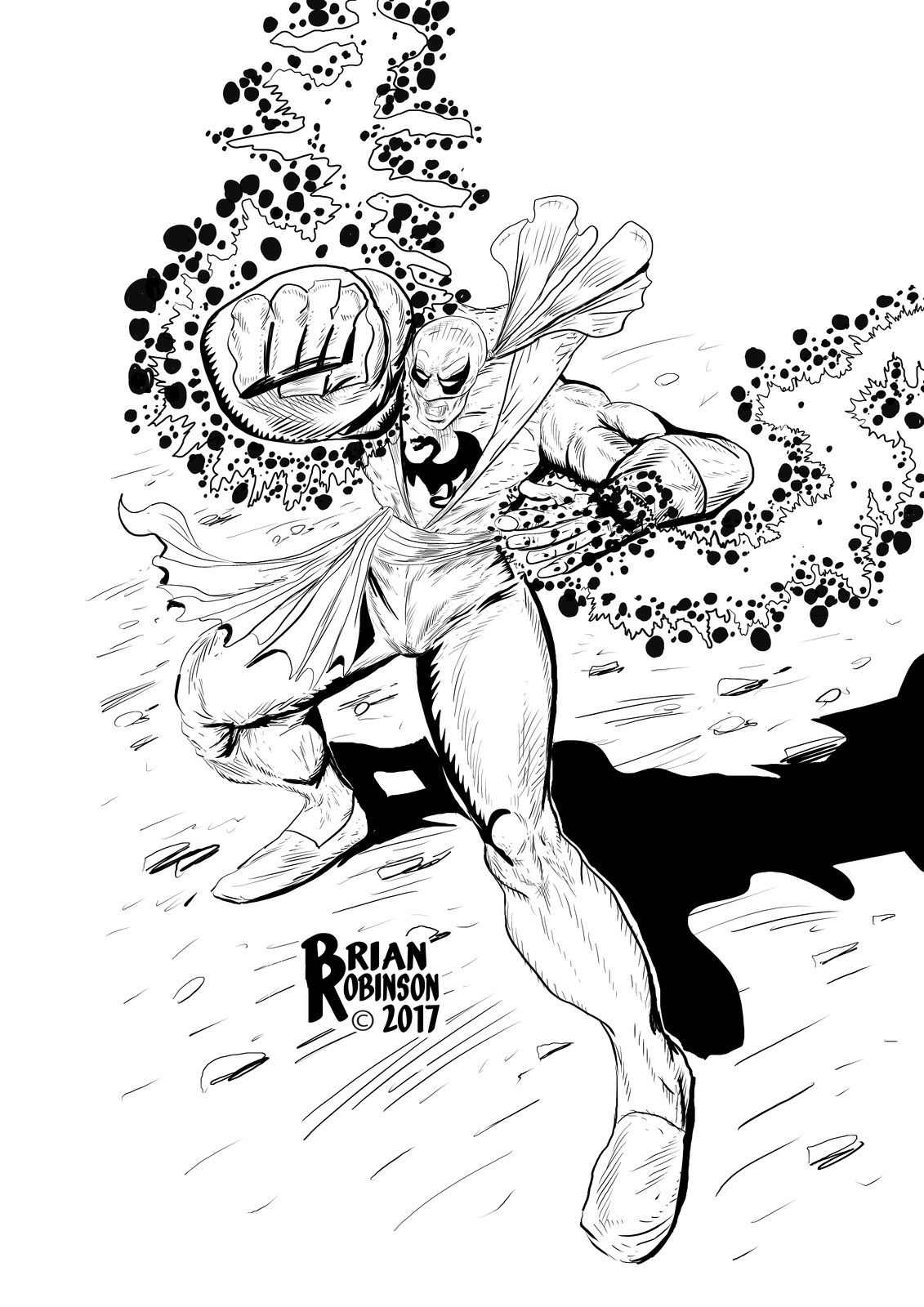 Iron Fist Drawn and inked by Brian Robinson