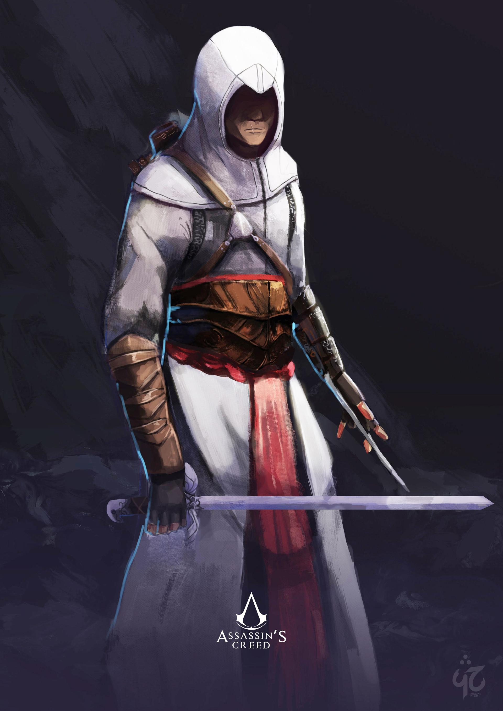 Altair Ibn La'ahad fanart. Pascal esatama proces8