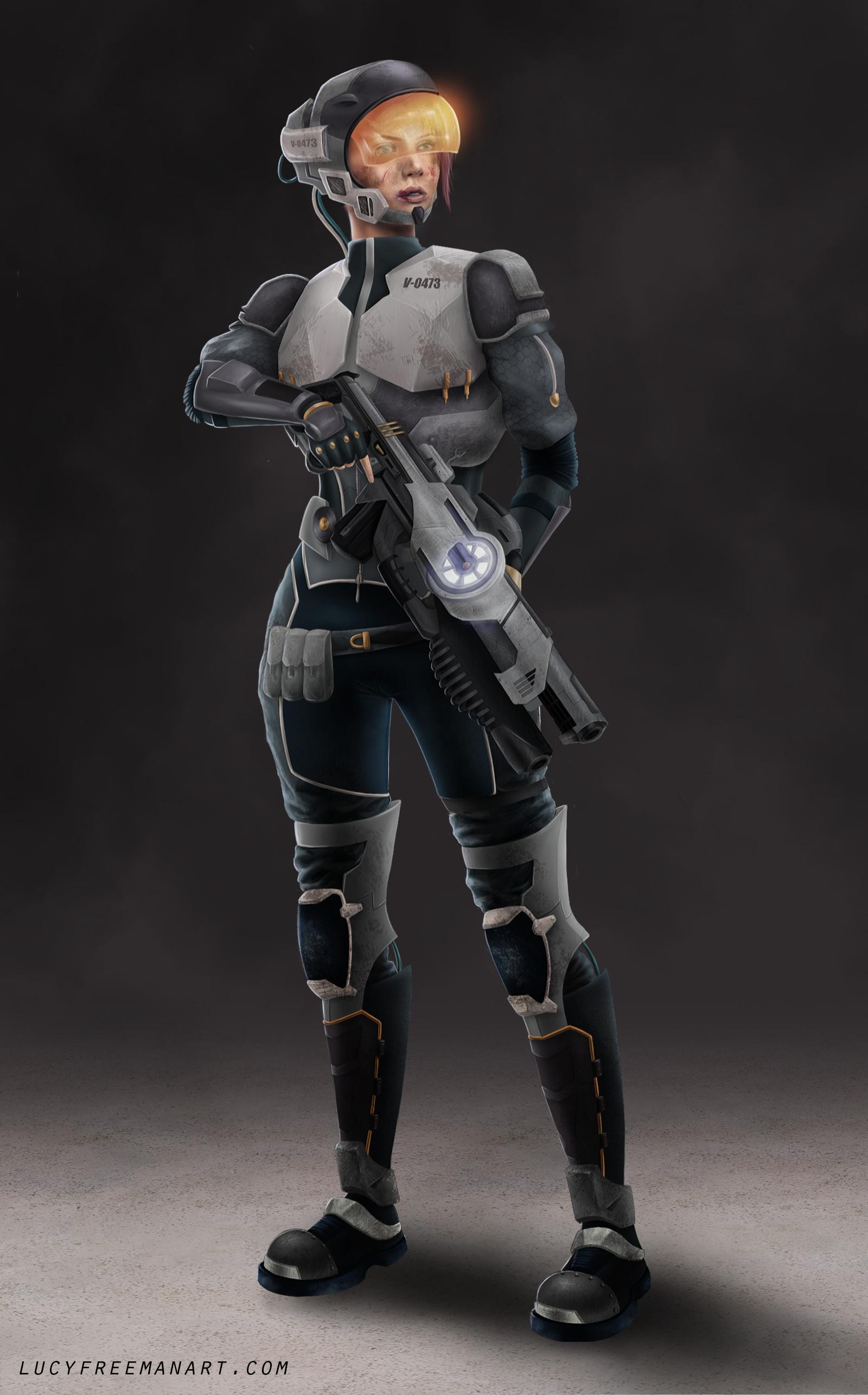 ArtStation - Sci-fi Female Soldier - Vetana, Lucy Freeman