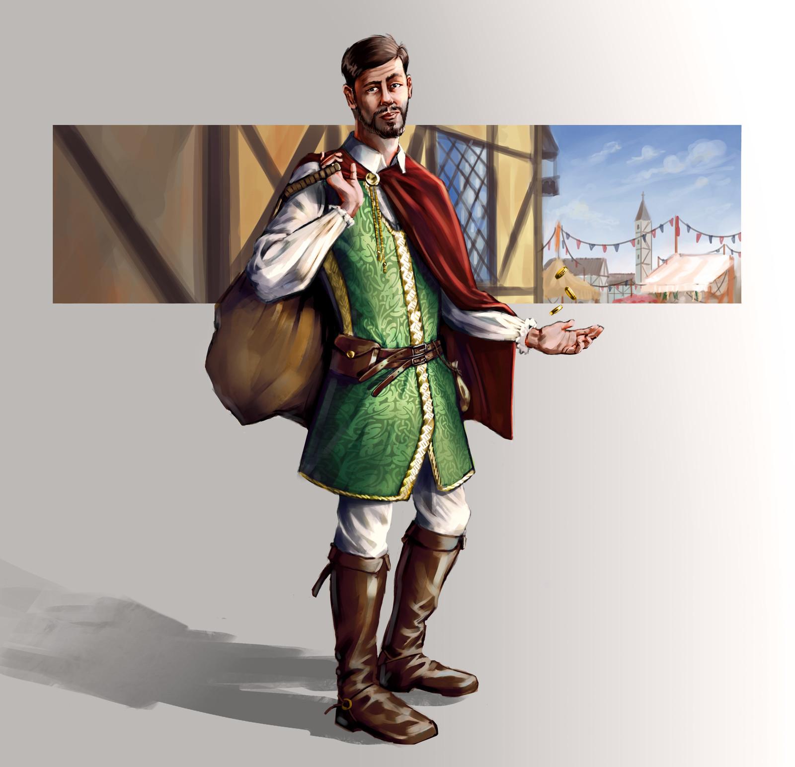 Medieval era merchant