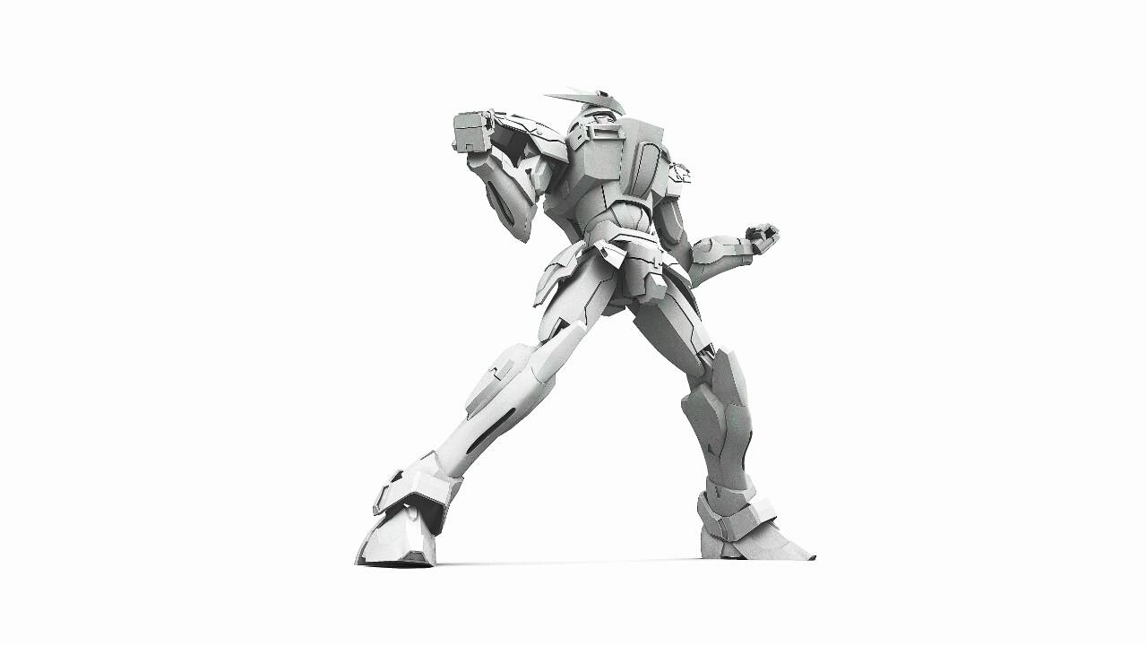 Ery Suriadi Gbft Try Burning Gundam 3d Model Grayscale Img1474135815515